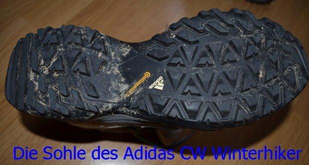 Sohle des Adidas CW Wintwerhiker